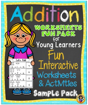 Addition Fun Worksheets and Activity Set for Young Learners - FREE Sample