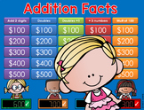 Addition Jeopardy Style Game Show - 2nd Grade