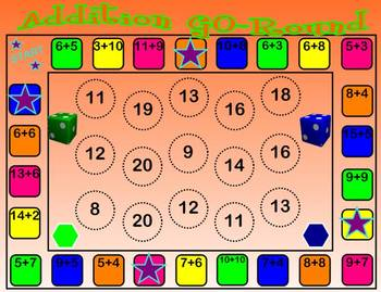 Addition GO-Round SMARTboard Game