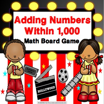 3rd Grade Addition Within 1,000 Game {2.NBT.7, 3.NBT.2}