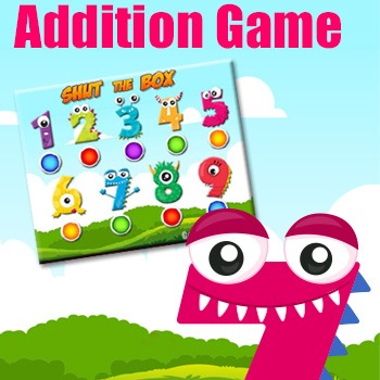 Addition Game - Shut the Box - An Excellent Printable Math Game