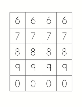 Addition Game - 6 Game Boards