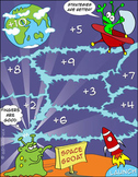'ADDITION GAME' - 'Space Groat' - Adding 3 Single Digit Numbers - Heaps of Fun!