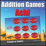 Addition Game: {Achi} - Addition Fact Practice Game to Develop Number Fluency