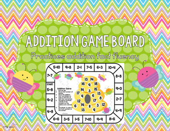 Addition Game Board