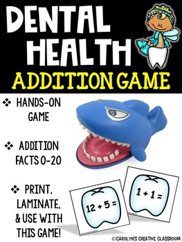 Addition Game! Dental Health Addition Math Center