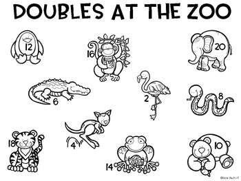 Addition Game: Doubles at the Zoo!