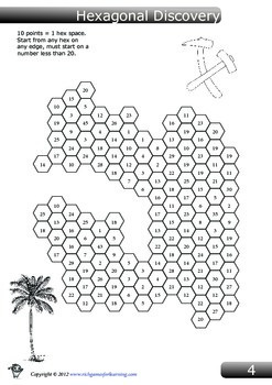 Addition Game - Hexagonal Discovery