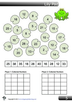 Addition Game - Lilly Pad