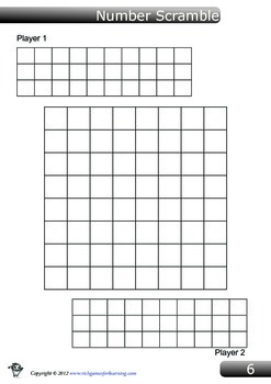 Addition Game - Number Scramble