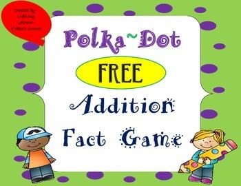 Addition Game ~ Polka Dot Theme (FREEBIE)