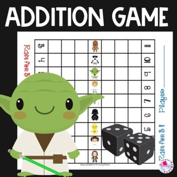 Addition Game Race to Win Star Wars Kids Edition