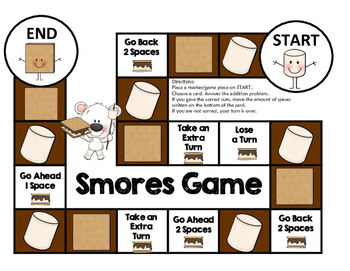 Addition Game : Smores Theme (Sums up to 20)