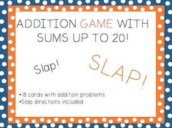 Addition Game: Sums to 20