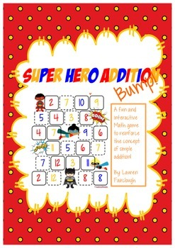 Addition Game - Super Hero Bump