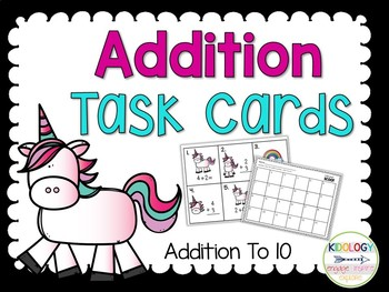 Addition Game - Task Cards - Center