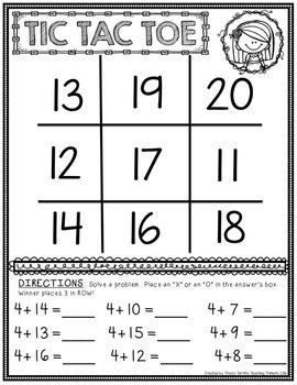 Addition Math Center Game
