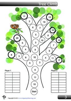 Addition Game - Tree Climb