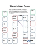 Addition Game with doubles, +0 and +1