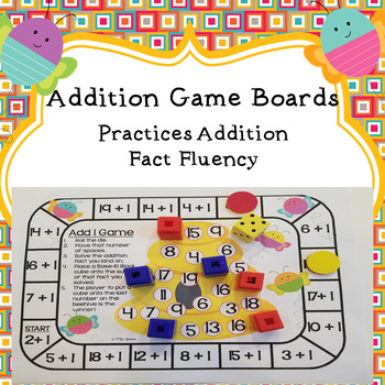 Addition Game Boards