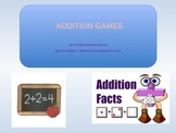 Addition Games - 12 Printable Addition Games with recording sheets