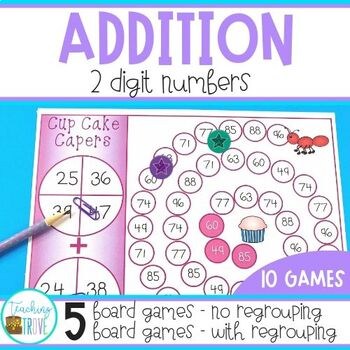 Two Digit Addition with and without Regrouping