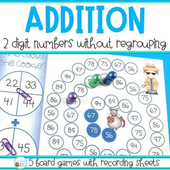 Two Digit Addition without Regrouping by Teaching Trove   TpT