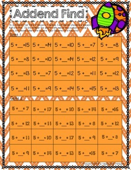 Addition Fact Power Add by 5 Practice and Games