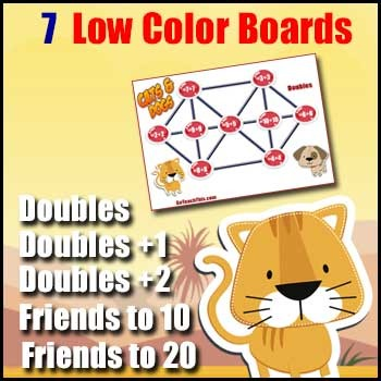 Addition Games: Doubles - Doubles +1 - Doubles +2 - Bonds to 10 & 20