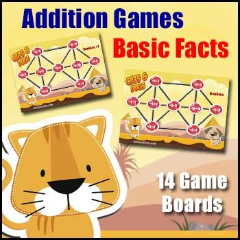 Addition Games: Doubles - Doubles +1 - Doubles +2 - Bonds