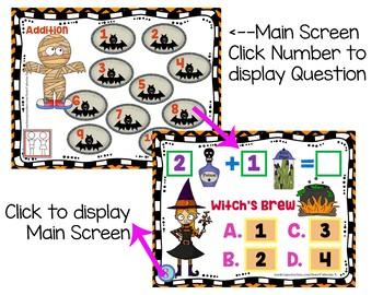 Halloween Math Addition Games