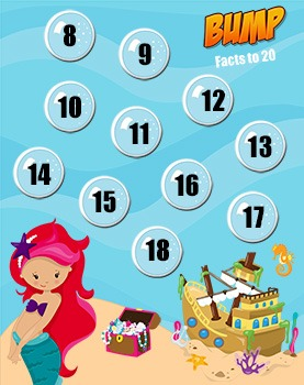 Addition Games - Bump - Friends to 20 - 8 Game Boards
