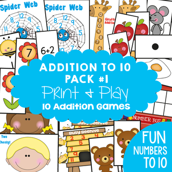 Addition Games / Center Pack - Printable Teaching Resources