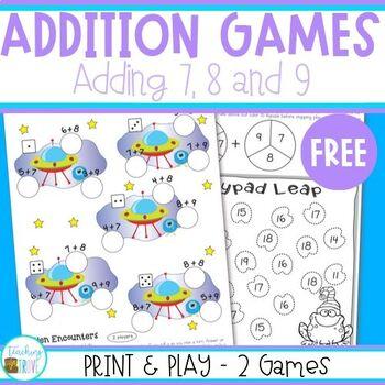Addition Games - Follower Freebie
