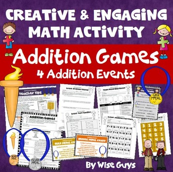 Addition Games Four Creative Events