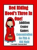 Little Red Riding Hood's Addition Math Center Games