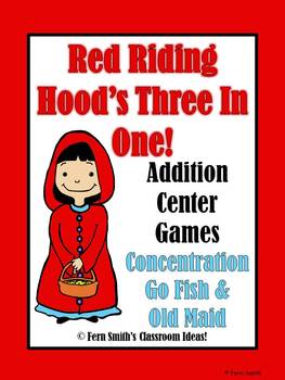 Little Red Riding Hood's Addition Math Center Games