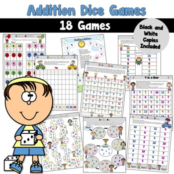 Addition Games using Dice