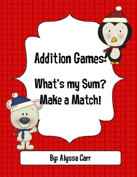 Addition Games: Winter Themed (With and Without Regrouping)