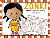 Math Games | Addition |ZONK! | Sums to 20