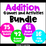 Addition Games and Activities Bundle for Addition Facts Fluency