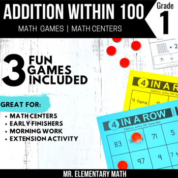 Addition Games and Centers 1st Grade