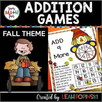 Fall Addition Games No Prep