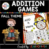 Fall Activities - Addition Games Easy Differentiation for Addition Fact Fluency