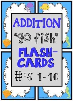 "Addition ""Go Fish"" Flash Cards"