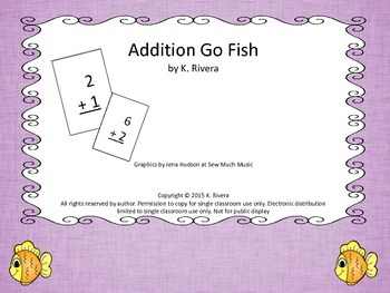 Addition Go Fish: Sums between 3 and 10