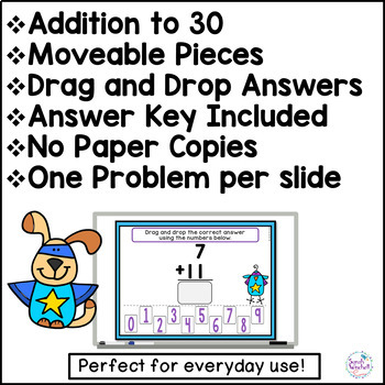 Digital Addition Practice for the Google Classroom