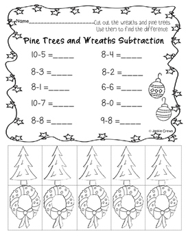 Addition & Subtraction: Common Core Grab and Go Winter/Holiday Theme