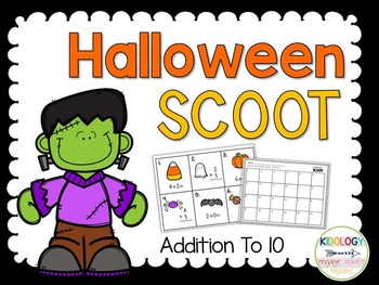 Addition / Halloween / Scoot / Write the Room / Task Cards