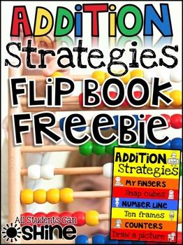 Addition Hands-On Strategies FlipBook FREEBIE